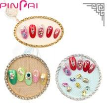 PinPai Nail Polish Color Display Plate Card Alloy Pearl Diamond Manicure  Tips Showing Board Tray Nail Tips Show Shelf Plates 6db8c8673627