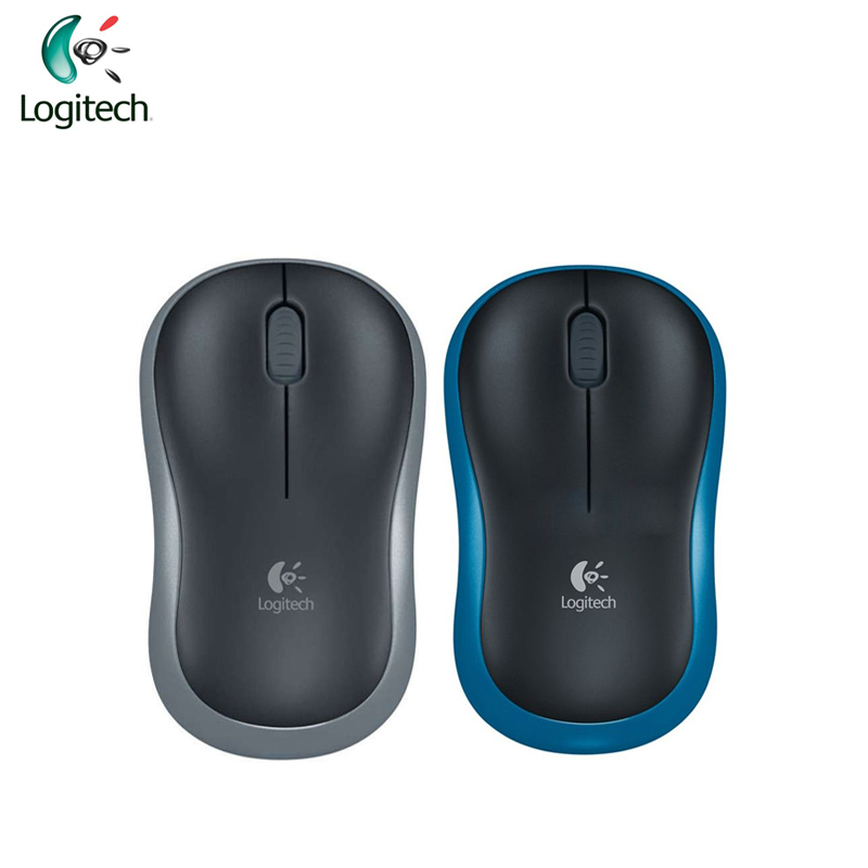 Logitech M185 Wireless Symmetric Design Mouse with USB Nano Receiver for Windows Mac OS Linux Support Official Test logitech m570 2 4g wireless gaming mouse optical trackball ergonomic mouse gamer for windows 10 8 7 mac os support official test