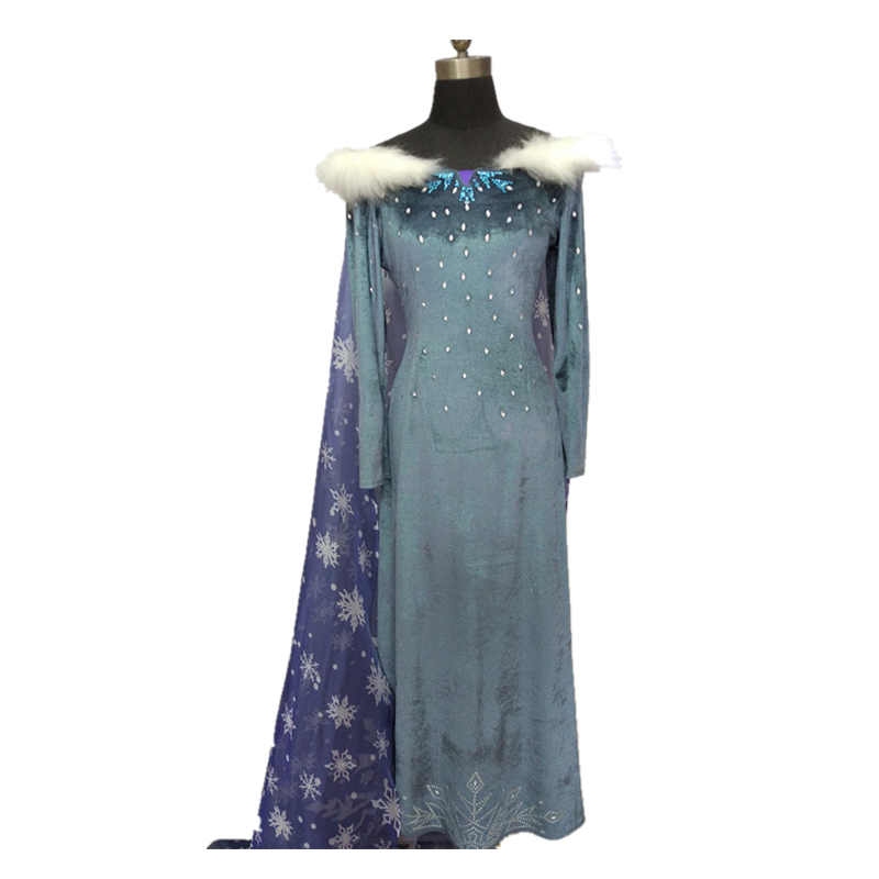 Olaf's Adventure Princess Elsa Anna Cosplay Costume Adult Women Christmas Winter Elsa Dress Queen Carnival Halloween Costume