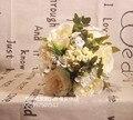 2017 Дешевые Свадебные/Невесты Свадебный Букет Романтический Красивая Красочные Цвета Слоновой Кости Ручной Работы Искусственные Букеты букет де mariage