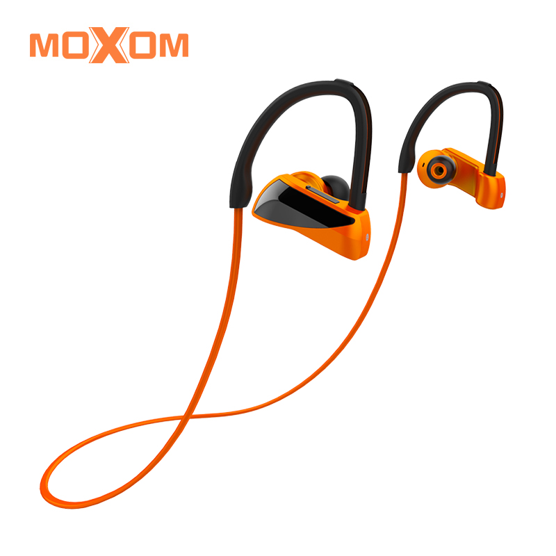 MOXOM Bluetooth Headphone Stereo 4.1 IPX7 Waterproof In-Ear Sports Earbuds Wireless Earphones with Mic for Gym Running Headset fashion wireless bluetooth 4 2 stereo sports in ear earbuds magnetic headset with microphone for android samrtphone