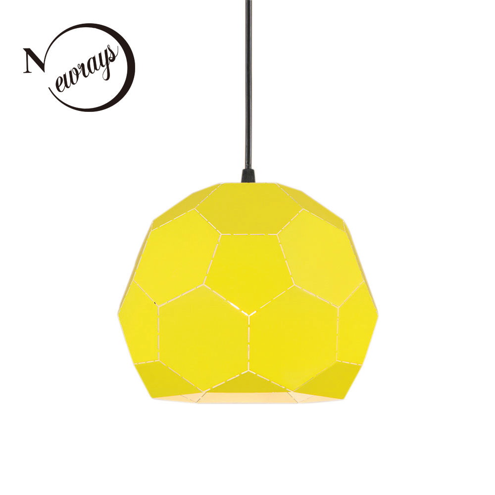 Modern simple pendant light E27 LED country Nordic hanging lamp with 3 colors for restaurant living room cafe kitchen study bar