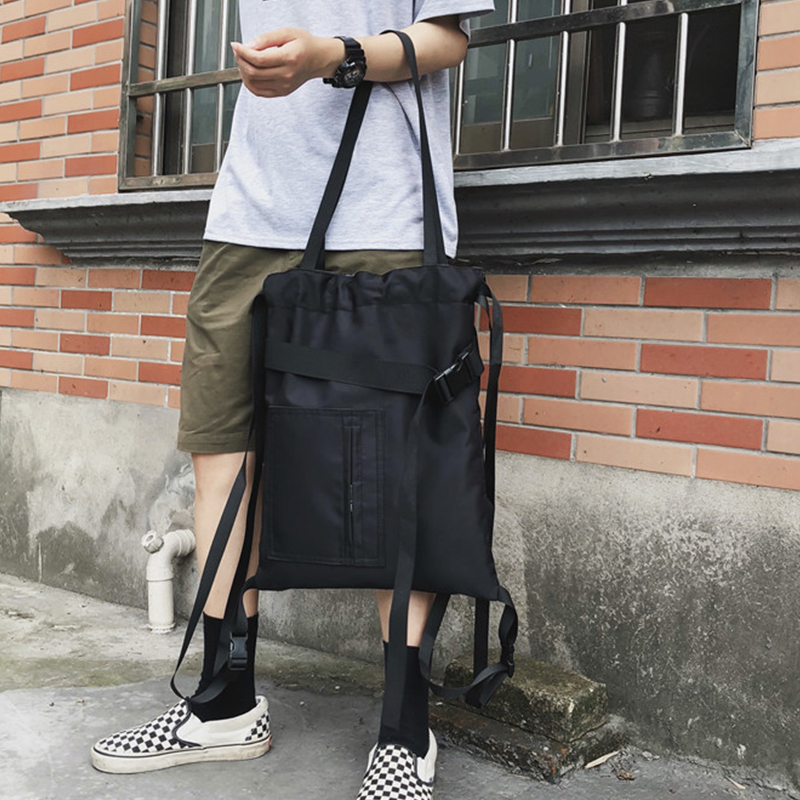 Street Style Crossbody Bags Men Women Nylon Waterproof Large Capacity Messenger Shoulder For Man Casual Zipper Travel Handbags