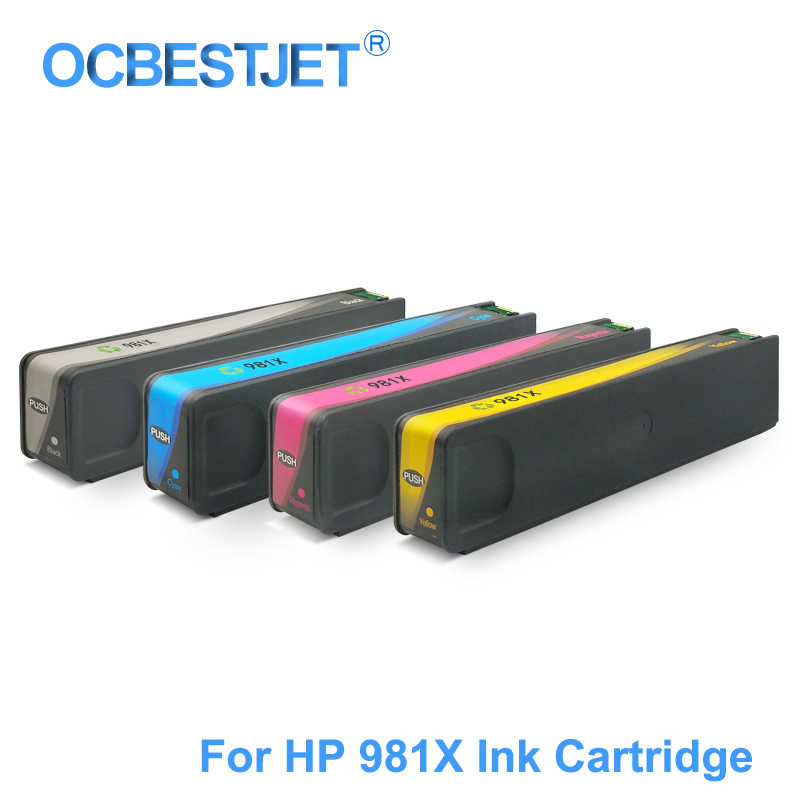 For HP 981X 981XL Replacement Ink Cartridge Compatible For HP PageWide  Color 586dn 556xh 586z 586f 556 586 E55650 E58650 Printer