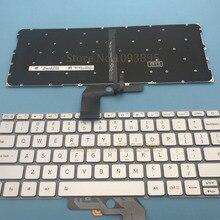 Оригинальная новая английская клавиатура для ноутбука Xiaomi Mi Air 13,3 дюймов 9Z. ND7BW. 001 английская клавиатура с подсветкой серебро