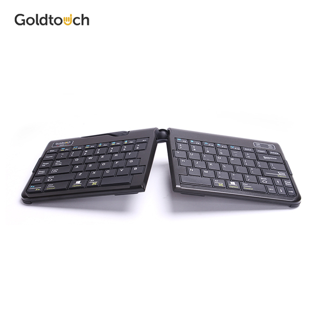 GOLDTOUCH clavier Bluetooth ergonomique sans fil, clavier Portable et pliable à hauteur réglable pour Mac et PC