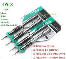 precision screwdriver Phillips1.5/Pentagon 0.8/Pentalobe 1.2/T6 CALL PHONES TOOLS FOR iphone NOKIA Apple Macbook Air Samsung