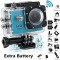 Adicionar 2 xbattery sj4000 action camera go hero pro 3 style 1080 p completo hd dvr 12mp 2.0 lcd hero 3 estilo cam à prova d' água 30 m ação Cam