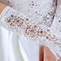 Hotselling Casamento Luvas De Cetim Bege 32 cm Casamento Moda Luvas de Noiva 2016 Vestido de Noiva Luvas Longas Luvas de Noiva