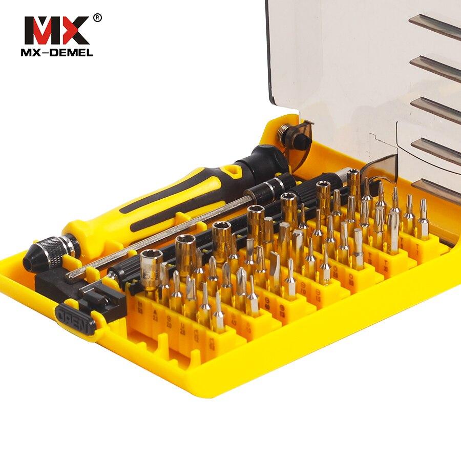 MX-DEMEL Precision 45 in 1 Multi-purpose Torx Magnetic Hand Screwdriver Set Household Hand Tool Set Opening Repair Phone Tools