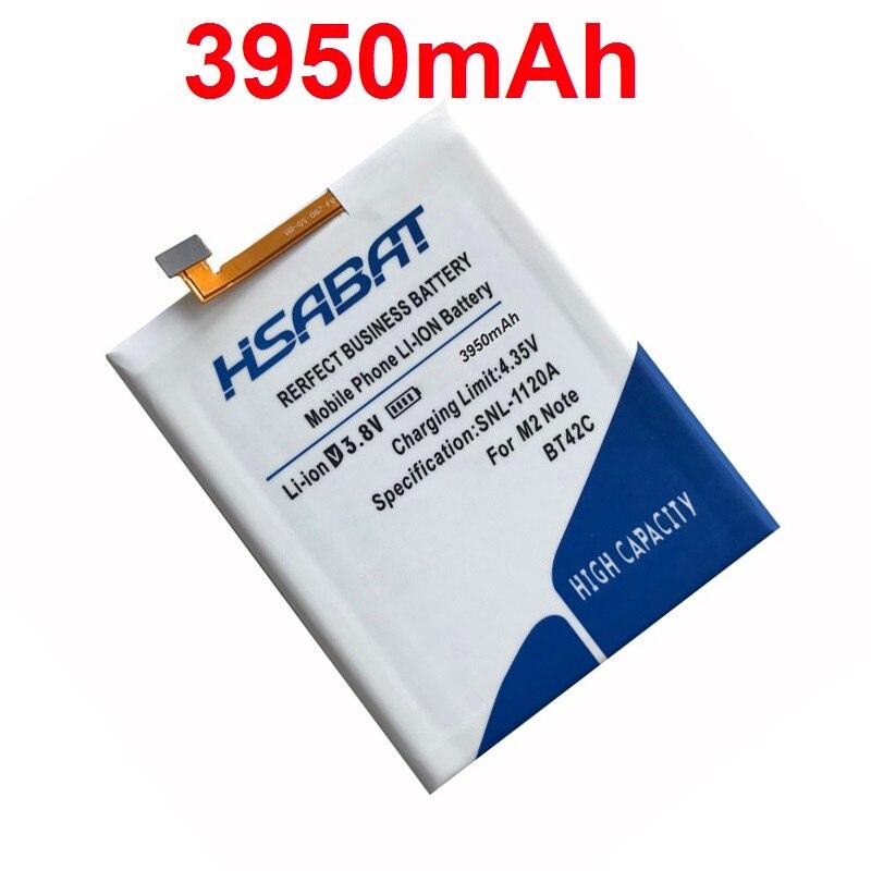 imágenes para HSABAT Envío Libre 100% Nueva 3950 mAh Batería para Meizu BT42C M2 Batería Nota