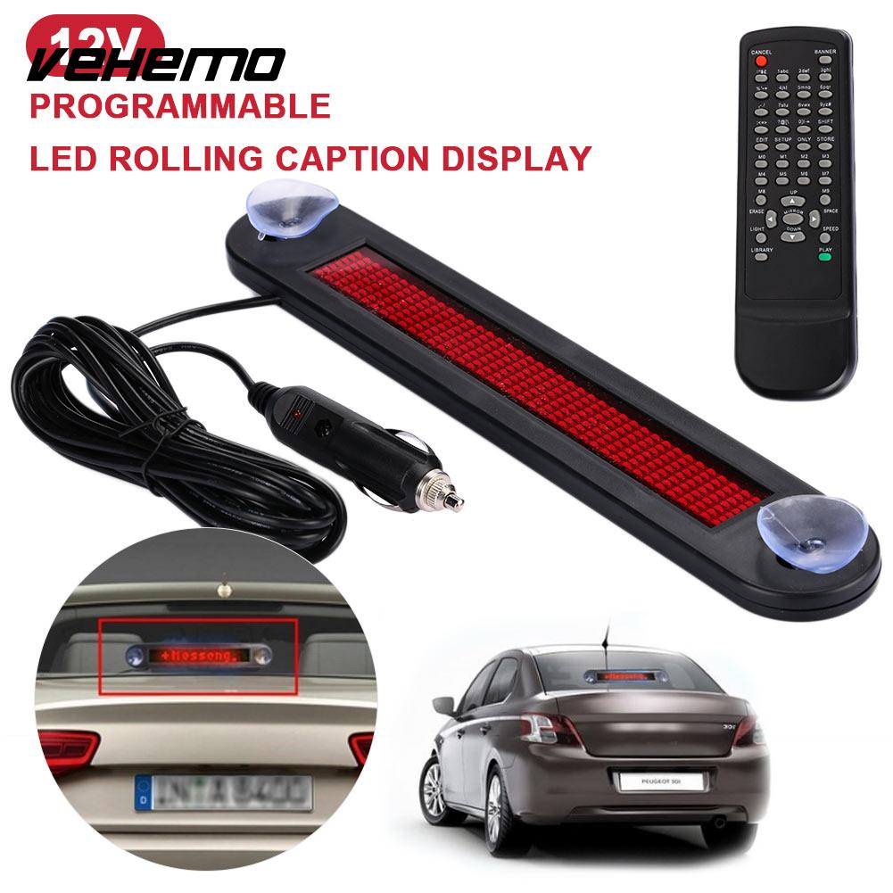 Vehemo Moving Programmable Highperformance Premium LED Display Hint Car Scrolling Board Automotive Subtitle Display Durable