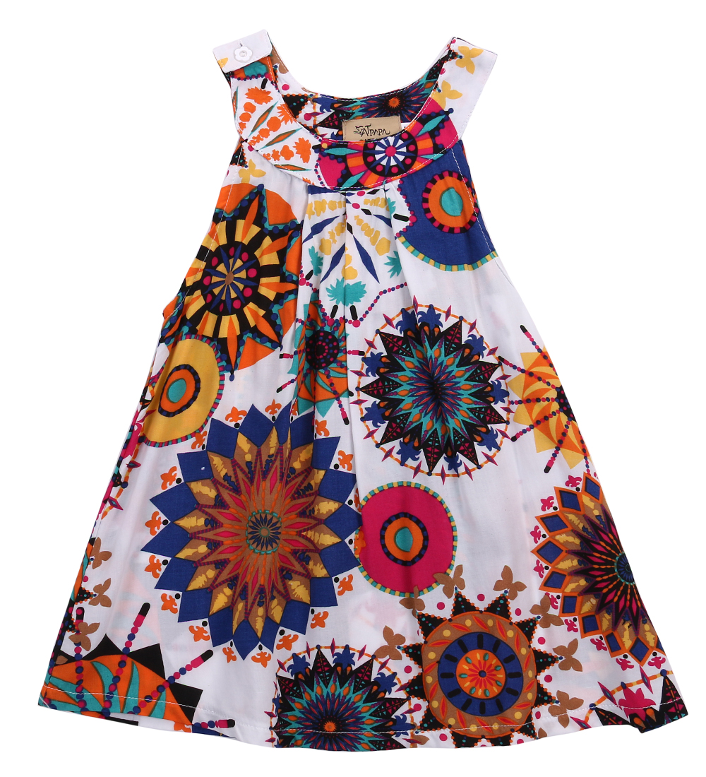 Baby Kids Girl Dress Summer Floral Sleeveless Dresses Princess Party Pageant Dresses 3-7Y