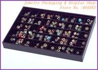 Black Plastic 45 Slots Jewelry Beads Organizer Tray No Lid Yiwu Factory Direct