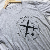EnjoytheSpirit Captain Barbossa Logo Shirt Pirate Shirt Pirates Of The Caribbean Pirate Shirt Adult Men Tshirt