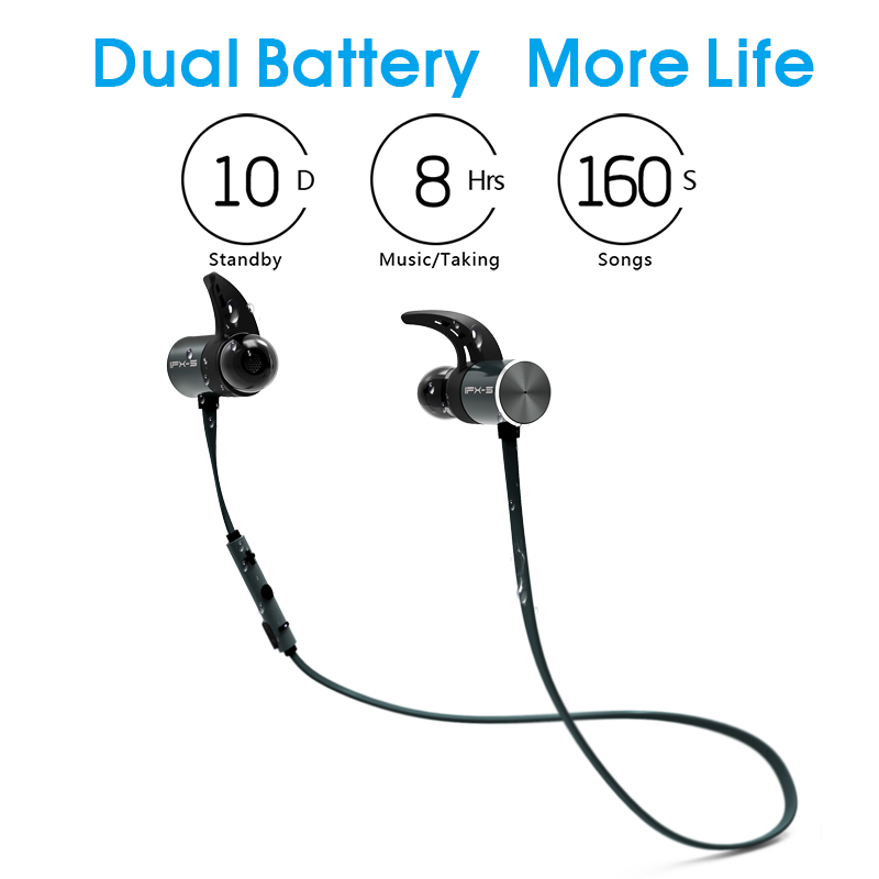Plextone BX343 Wireless Headphone Bluetooth IPX5 Waterproof Earbuds Headset Earphones With Microphone For iPhone Xiaomi Phone