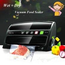 1 unid Automático + Seco Húmedo de Vacío Sellador de Alimentos, Alimentaria de Los hogares Preservación, Multi-función de Vacío Máquina De Sellado Película MS1160