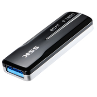 Ssk Idea Usb Flash Drive 128gu Plate Usb3 0 Usb Flash Drive Retractable Type Usb Flash