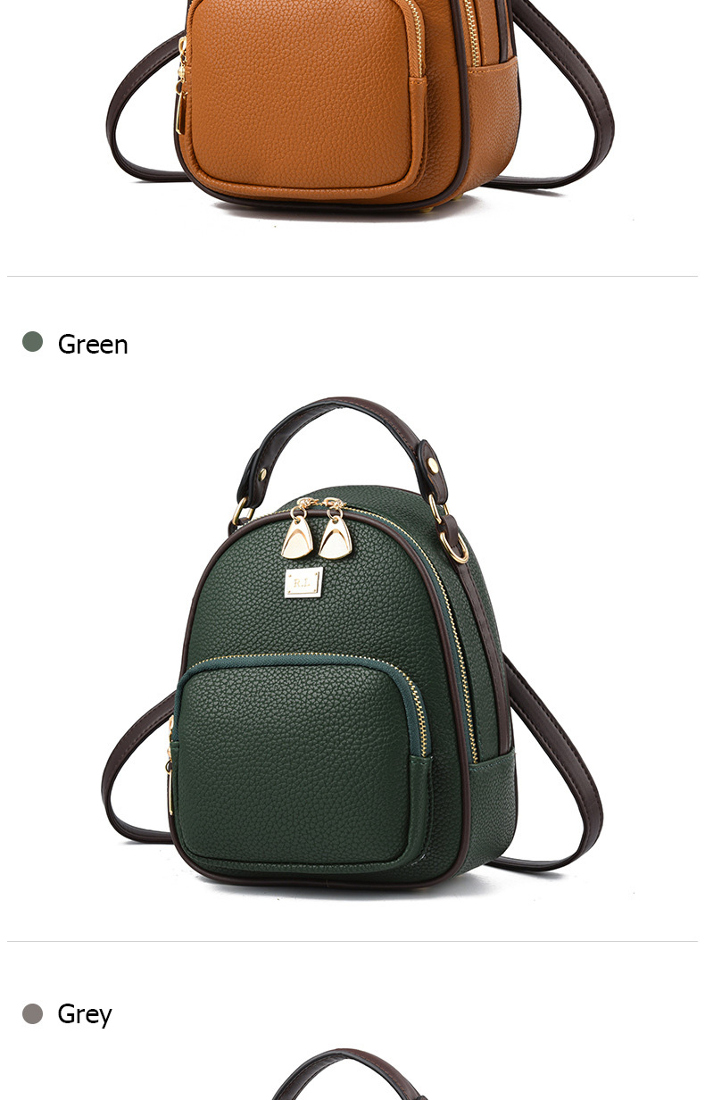 HTB1.8qLgOMnBKNjSZFzq6A qVXay Brand New Leather Small Women Backpacks Zipper Shoulder Bag Female Phone Bags Lady Portable Backpack for Girls Casual Style