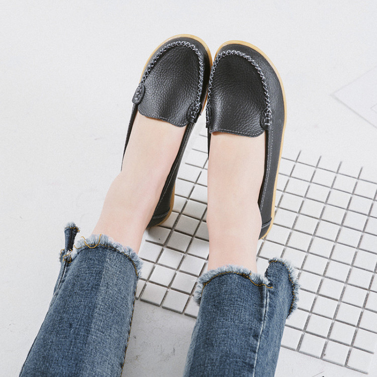 XY 918-2019 Genuine Leather Spring Autumn Women Loafers -1