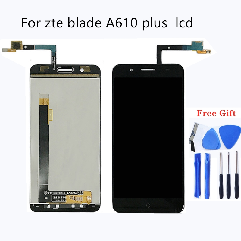 Suitable for zte blade A610 plus A2 plus LCD display and touch screen 5.5 inch mobile phone accessories for zte blade BV0730-in Mobile Phone LCD Screens from Cellphones & Telecommunications