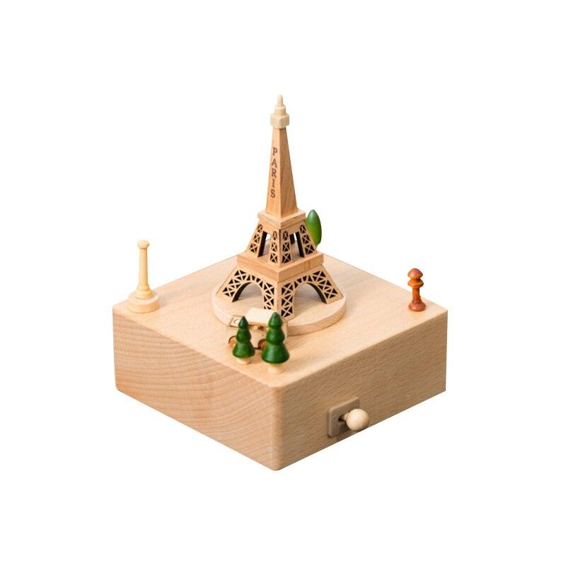 1 pc boîte à musique en bois cadeau créatif cadeaux pour enfants carrousel Musical grande roue boîtes Boxs décorations pour la maison