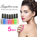 Sapphire 5Pcs/set Nail Gel Newest 80 Fashion UV Gel Polish 7.3 ML Soak Off Nail Gel Polish Best on AliExpress
