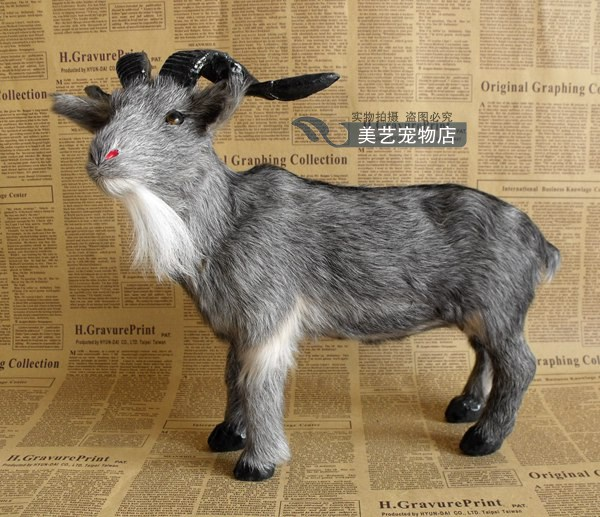 simulation goat model,polyethylene& fur gray sheep large 33x16x26cm handicraft toy prop,home decoration Xmas gift b3768 large 30x20x15cm simulation white cat miaow sounds furry fur hard model home decoration christmas gift h1168