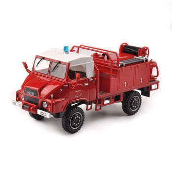 1/43 Scale Collection Fire Engine Truck Model Vehicle Toy Gift Mini Car Toys Kids ToyHot 1:6 White/ red/black