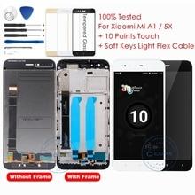 Pantalla LCD + marco para Xiaomi Mi A1, pantalla táctil, digitalizador, Panel de pantalla táctil, piezas de repuesto