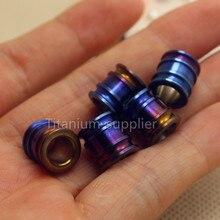 2pcs 10mm Tiremet Titanium Knife Key Jewelry Parachute Cord Anodized Blue Bead Pendant Lanyard, rope locket hanging pendants
