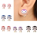 Trendy Cute Penguin Kids Girl Stud Earrings Cartoon 3D Final Fantasy Earrings Fashion Jewelry Women Oorbellen XL0535 A1