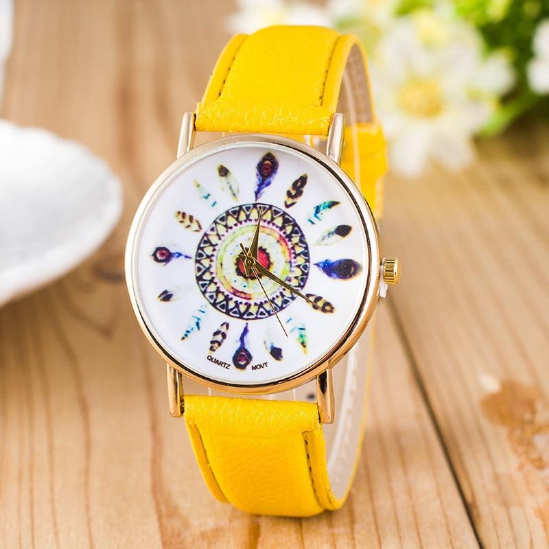 Luxury Brand Women Watches New Fashion Casual Checkers Faux Leather Quartz Analog Women Wrist Watch Relogio Feminino U070