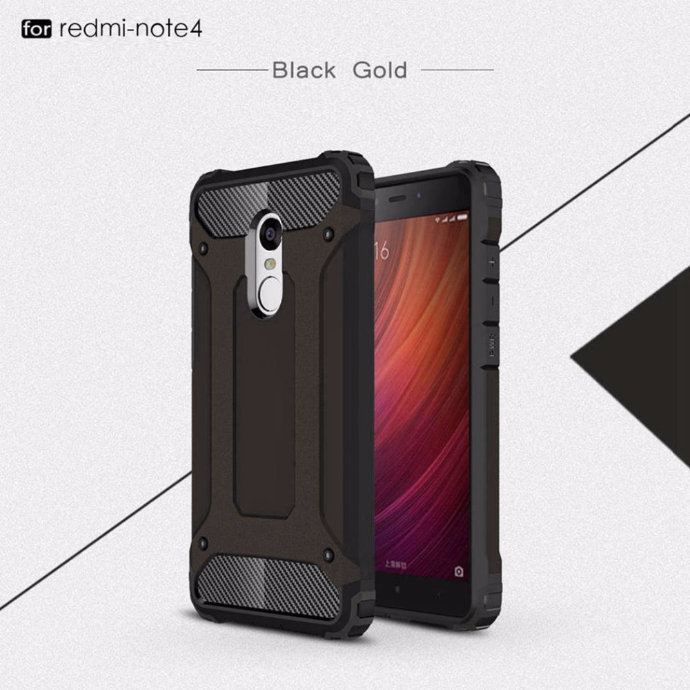 Hybrid Hard Tough Dual Layer Armor Case For Xiaomi Redmi Note 4 4G Pro Case Prime Dual Layer Luxury Phone