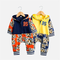 2018 Kids Newborn Children Unisex Baby Girls and Boys Winter Clothes Hooded Baby Onesie Baby Long Sleeve Jumpsuit Bebe Clothing