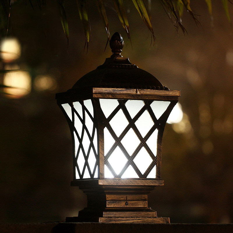 Solar 24LED Aluminum Body Fence Post Cap Fence Garden Light solar spot luminaria solar energy luz garden lantern led decoration