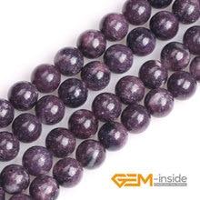 Натуральные круглые фиолетовые lepidolite бусины: 4-12 мм натуральные каменные бусы «сделай сам» свободные бусины для изготовле