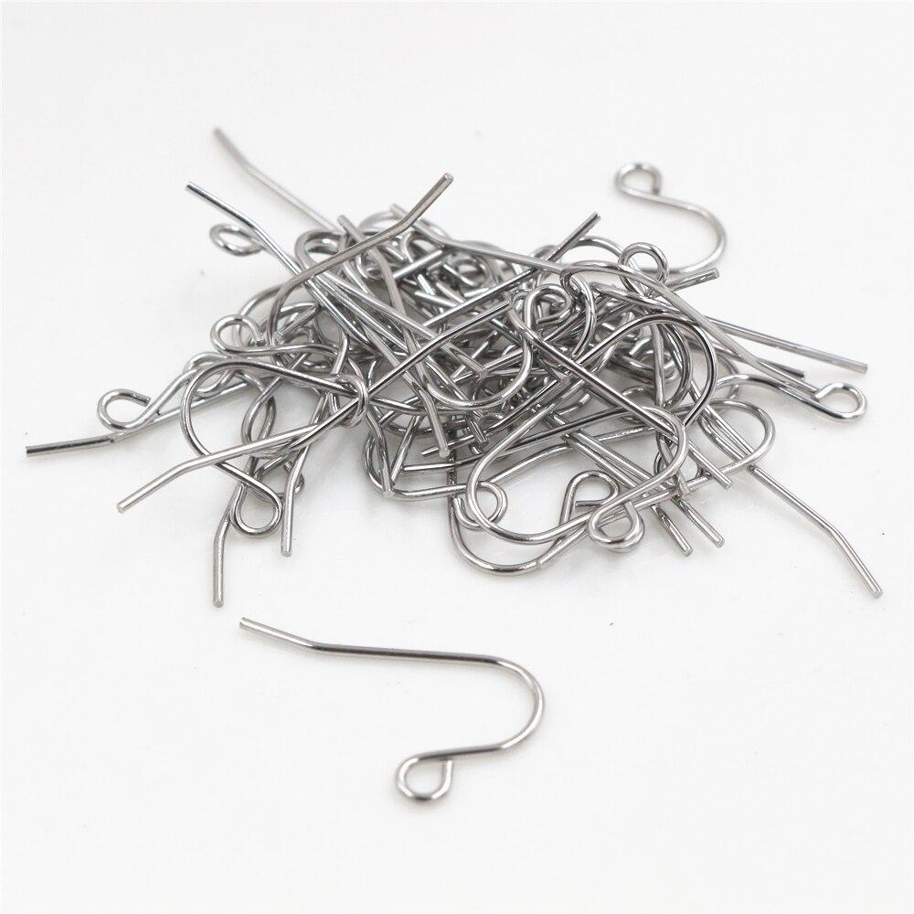 (Never Fade) 100pcs/lot 20x12mm Stainless Steel DIY Earring Findings Clasps Hooks Jewelry Making Accessories Earwire -W1-15