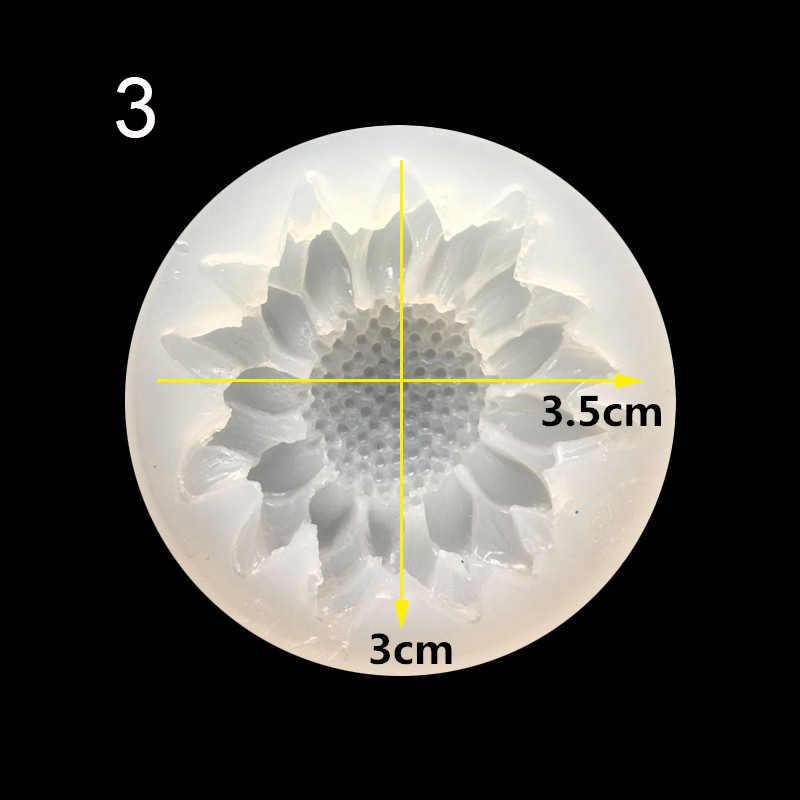 1 pçs/lote UV Resina Jóias Líquido Molde de Silicone Flores Encantos Encantos Pingente Para DIY Fazer Jóias