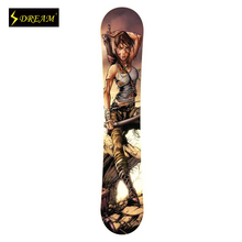 Customizable Freestyle Adult's Snowboards Poplar Core Wood With Carbon Fiber P-TEX Base Skiing Boards Freeride All Mountain