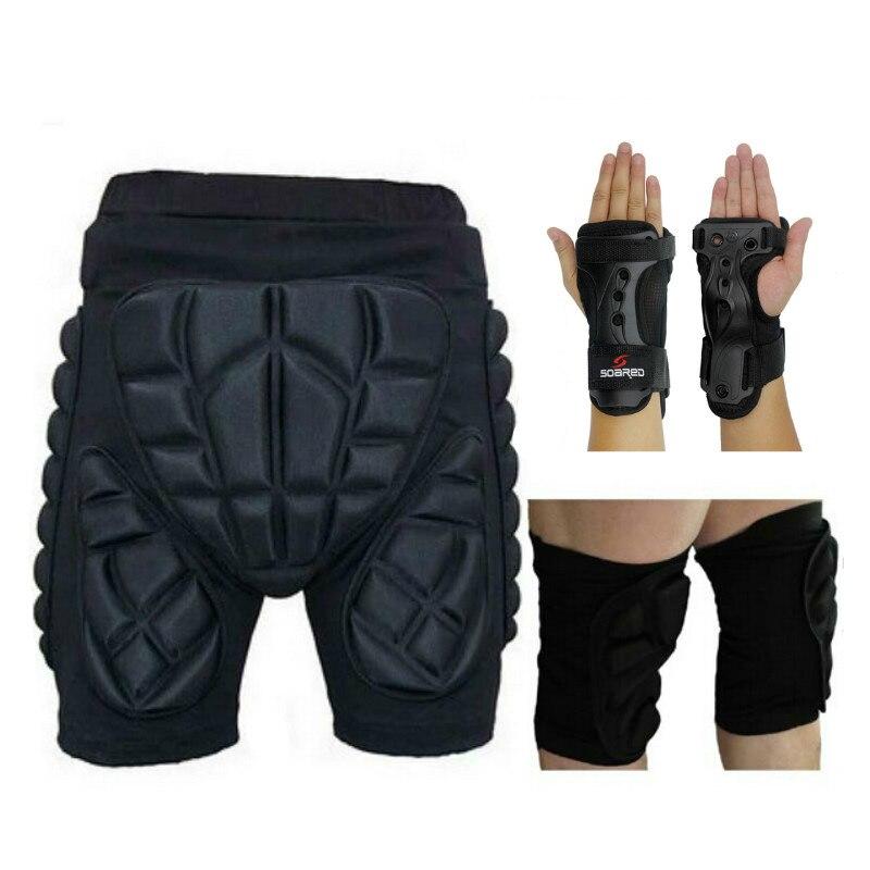 Almohadillas protectoras de cadera para deportes al aire libre, rodilleras, apoyo de Palma, patines, Snowboard, esquí, impacto, Protección deportiva extrema