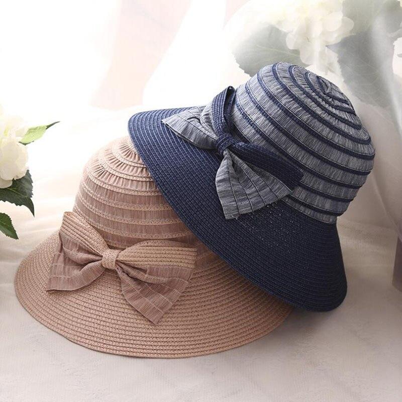 Compra bow decor straw sun hat y disfruta del envío gratuito en  AliExpress.com 5c27cc1b22e