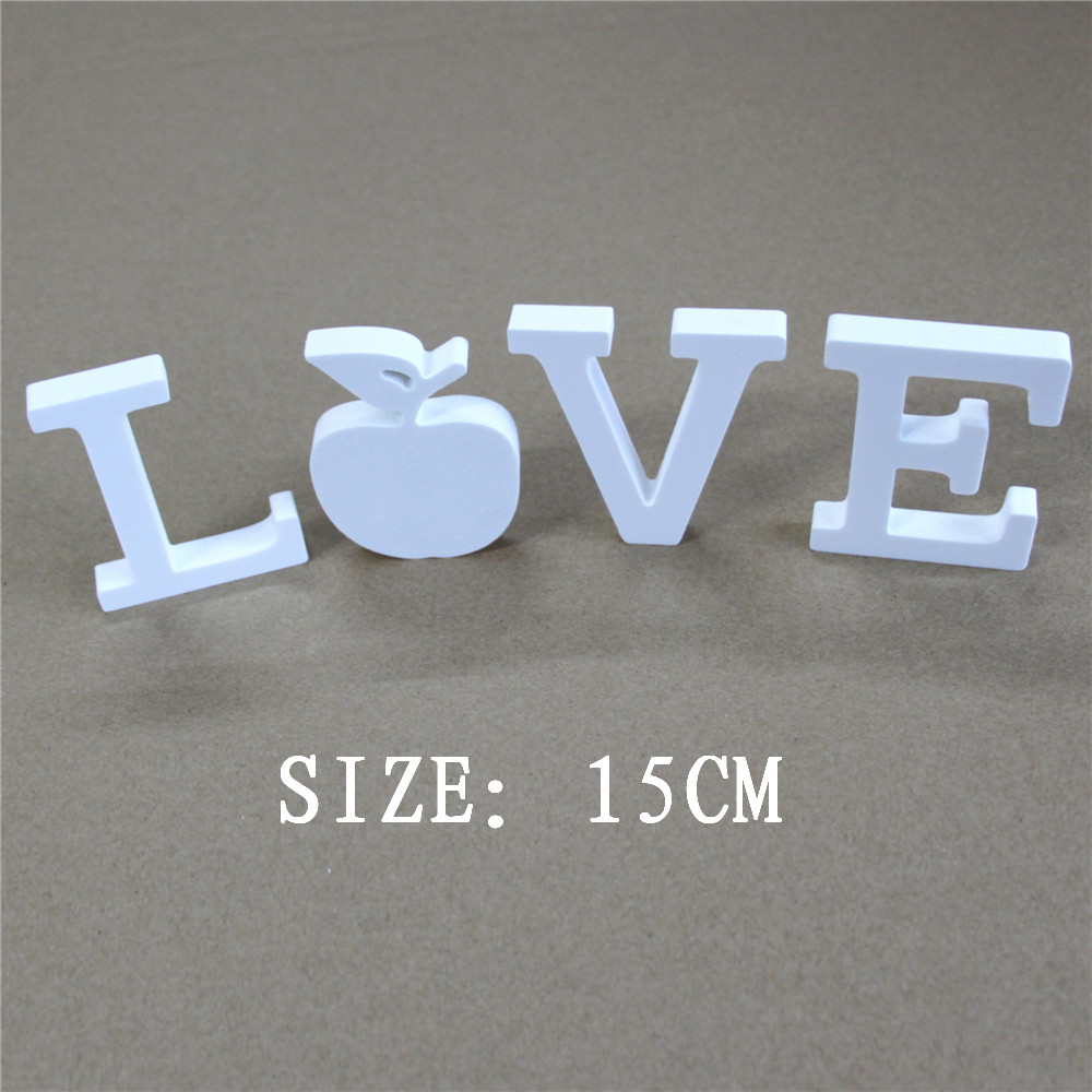 DIY creatief 15cm Kunstmatig houten wit Cijfers en letters gebruikt voor huisdecoraties huwelijksdecoraties feestcadeaus
