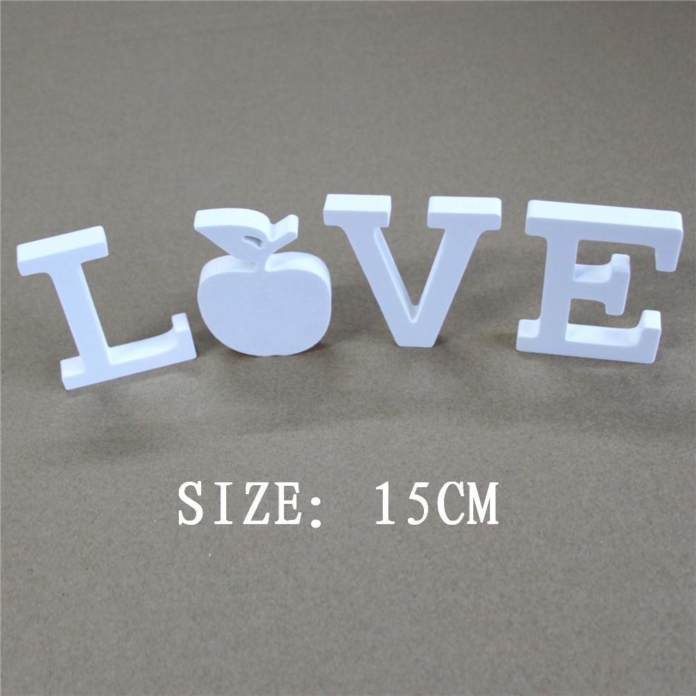 DIY δημιουργικό 15cm Τεχνητό ξύλινο λευκό Αριθμοί και γράμματα που χρησιμοποιούνται για οικιακές διακοσμήσεις γαμήλιες διακοσμήσεις party gifts