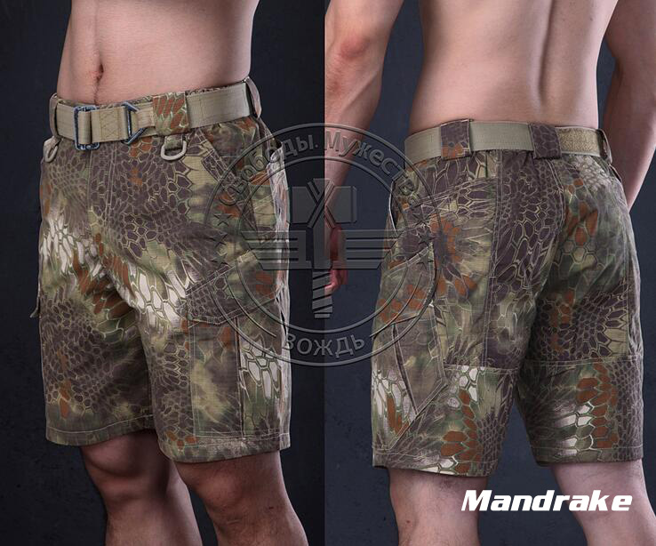 Warchief Shorts Men Camouflage Ripstop Outdoor Summer Airsoft Tactical Kryptek Mandrake Highlander Typhon Pants STG050996
