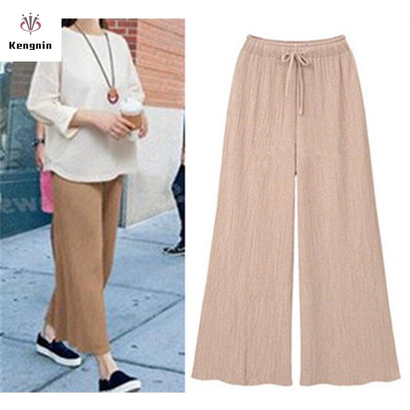 Plus Size 5XL 2019 Women Trousers Summer Anklet-Length Ladies   Pants   Elastic Waist Bow   Capris   Brand Sashes   Pants   European Style