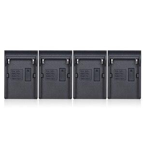 Image 2 - Andoer NP F970 4 ערוץ דיגיטלי מצלמה סוללה מטען w/LCD תצוגה עבור Sony NP F550 F750 F950 NP FM50 FM500H QM71