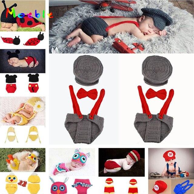 Crochet Baby Boy Gentleman pajarita sombrero pantalones Set sombrero ...