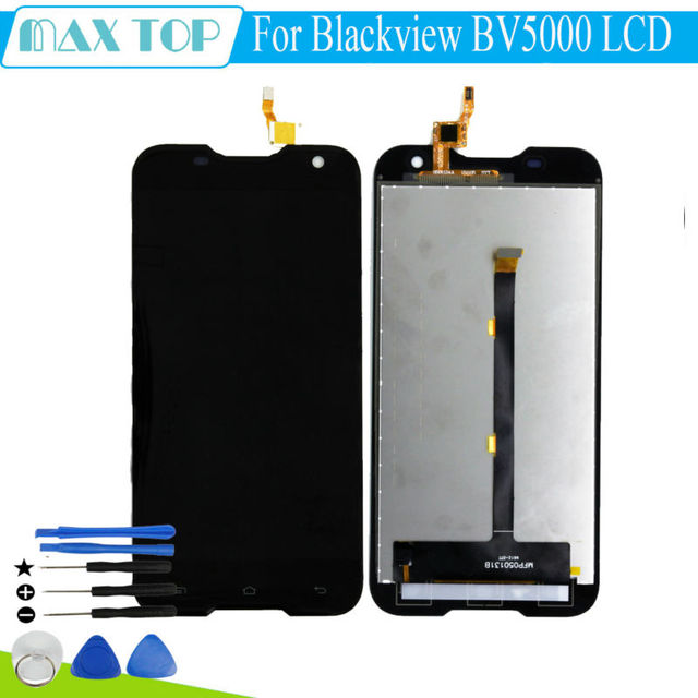 For Blackview BV5000 LCD Display With Touch Screen Panel replacement parts For BV5000 5 Inch Waterproof Outdoor Smartphone+tools