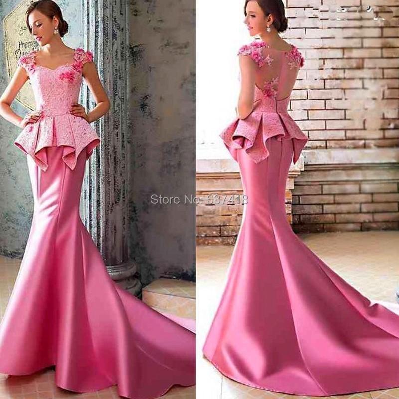 Bonito Vestido De Fiesta Rosa Sirena Inspiración - Ideas de Vestido ...
